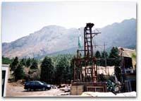 パイロット坑掘削地点より普賢岳溶岩ドームを望む