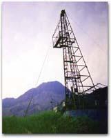 上大野木場掘削地点より普賢岳溶岩ドームを望む